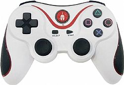 PS3 SPARTAN GEAR NEW SIX-AXIS WIRELESS BLUETOOTH CONTROLLER WHITE SGCOPS302