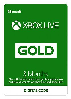 Xbox Live Gold Συνδρομή 3 Μηνών (SERIAL ONLY)