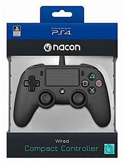 Nacon Wired Compact Controller Color Edition Black PS4